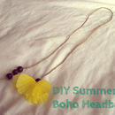 DIY Summer Boho Headband