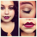 Plum Lip/Pin-up Look