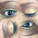 Gold & Blue Eye Makeup