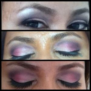 My fav go to eyelook,prefect combo of pink & purple.