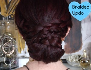 My Channel: http://www.youtube.com/stylestrands  Easy braided updo hairstyle great for glam nights out or you can make it super casual for school! So versatile and can be done in under 5 minutes!