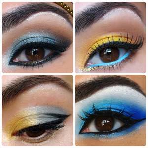 From subtle to pop to all over shadow... Blue eyeshadow can be done! More ideas and tuto's to each look on my blog: http://www.maryammaquillage.com/2012/07/eye-recap-blues-pinks-neutrals.html