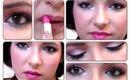 Valentine's Day Makeup Tutorial (Pink, White, Green, Metallic Glitter, & Navy Blue)