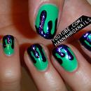 Glitter Drip Nail Art