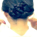 WET HAIR HAIRSTYLES UPDO IN 5 MIN   EASY BRAIDED BUN/CHIGNON ON YOURSELF ON LONG HAIR: Coiffure