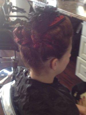 Pull apart braid updo Halloween Hair by Christy Farabaugh