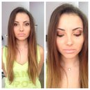 Bronze summer makeup by Stefania