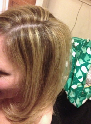High light low light haircut and blow dry by Christy Farabaugh