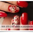 Nails - Christmas nail art. Paznokcie hybrydowe Łódź