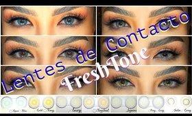 Nuevos lentes de contacto FRESH TONE   auroramakeup