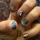 Scarf inspired Nails