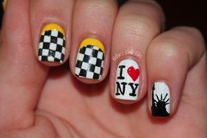 Loving this New York City inspired Nailart  [[HOME SWEET HOME]]  #beauty #nailpolish #nailart #onyxbrands #fashion #fashionstyle #newyorkcity
