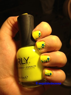 Was super excited to use my new neon yellow