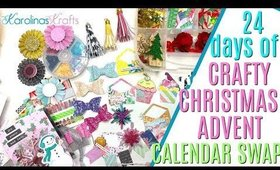 24 days of Crafty Christmas Countdown Outgoing Swap, Embellishments for card making