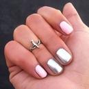 Pink & Silver Metallic Mani
