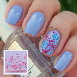 ♥ Gabriella Salvete Base Coat ♥ ♥ OPI Nail Lacquer (LE Euro Centrale), You´re such a Budapest ♥ ♥ Catrice Ultimate Nail Lacquer, 190 Wrapped Around My Finger ♥ ♥ Catrice Ultimate Nail Lacquer, 400 Blue Cara Ciao ♥ ♥ Gabriella Salvete Top Coat ♥
