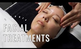 2 Hours of Professional Facial Treatments // soft spoken relaxing music to help you de-stress