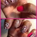 Natural and pink
