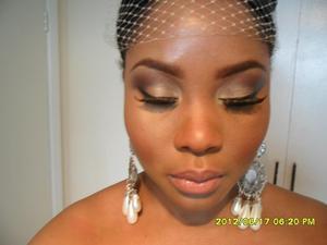 Bridal Make Up using Budget shadows