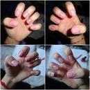 Pink Crackle nails