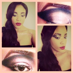 Get the tutorial for this Old Hollywood Cat Eye Look at http://paintedcanvasbyindustry.tumblr.com