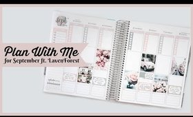 Plan With Me For September In My Erin Condren Vertical Planner ft. Laven Forest