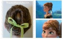 Frozen Hairstyles, Anna Coronation Bun, Disney Inspired