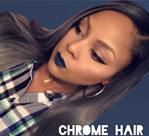 This lace wig was made by me using ion chrome and darkest black