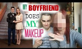 My Boyfriend Does My Makeup TAG | Get To Know Us