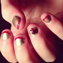 Attempted to do my nails nice xP