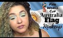 Argentinian Flag Inspired Makeup Tutorial -FIFA World Cup- (NoBlandMakeup)