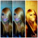 Blonde straight look