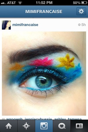 Fireworks for July 4th! I work at Sephora so I went all out:) follow me on Instagram for more makeup! @mimifrancaise