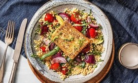 ZaAtar Grilled Cheese With Couscous Recipe Hello Fresh