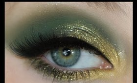 St. Patricks Day Green Glitter Makeup Tutorial 2020 | Lillee Jean