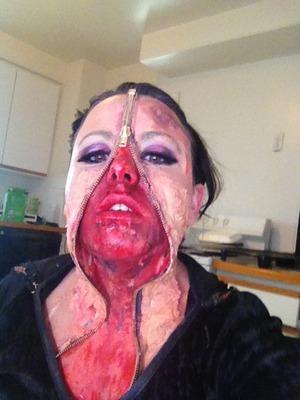 Zipper face make up by Christy Farabaugh