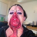 Zipper face make up by Christy Farabaugh