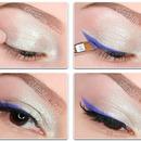 Silver Glitter Eye Make Up