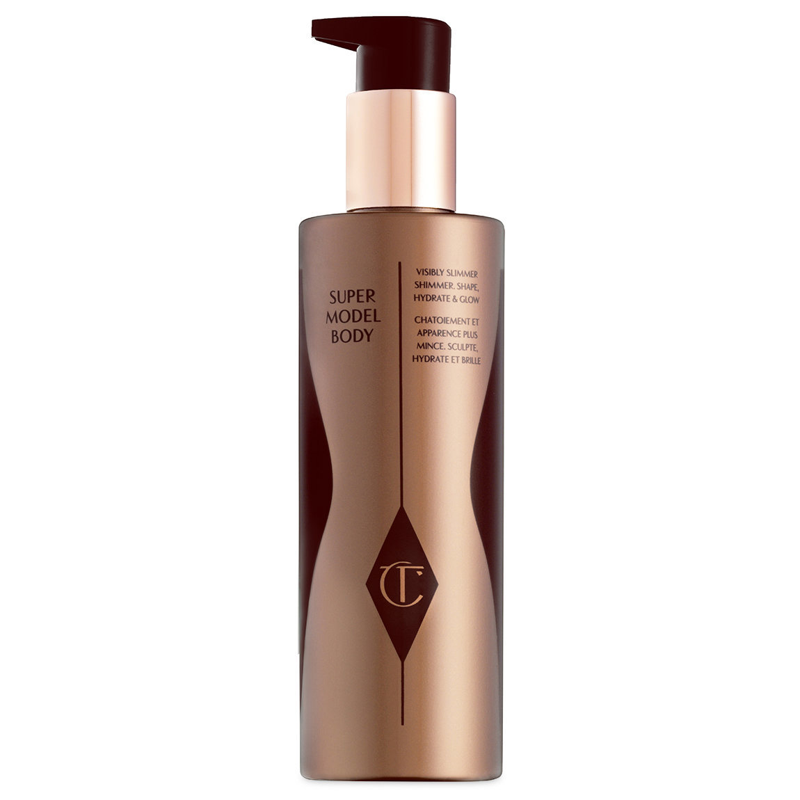 Charlotte Tilbury Supermodel Body 200 ml product swatch.