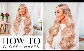 How to : Glossy Waves Styled With Trendy My Kitsch Hair Accessories