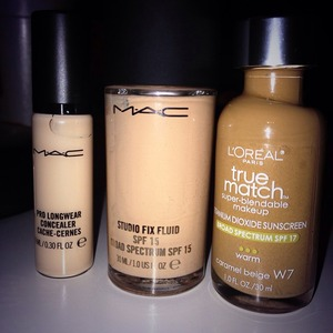 Love these products for contouring and highlighting!! I use the concealer for highlighting the dark loreal for the contour and the studio fix fluid for in between to make it blend nicely ☺️