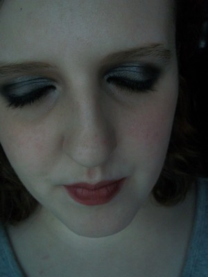 Simple night time/ after school look (Keeping the makeup used in the day time look, just darkened up and using a bold lipcolor)