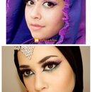 Arabian Gypsy Makeup Tutorial| Colourful Makeup Ft. Makeup geek| Lujainsbeauty101