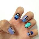Negative space/ cutout nails