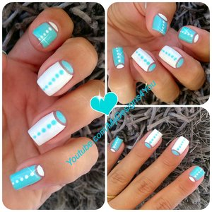 Fun, Negative Space Nail Art | Half Moon Nails