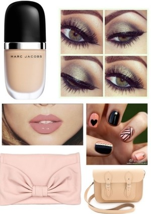 Nude makeup is so cute right now! Especially coming out the summer season, would be perfect for school for that light makeup look :)