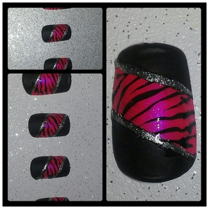 A set of nails I recently painted for a friend.
