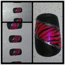 Neon & black zebra