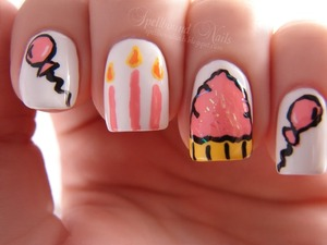 These were my birthday nails. :)