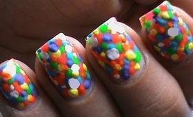 Neon Bubbles designs- Nails Polish Colorful Neon Bright color nails Cute & Easy (Long & Short Nails)
